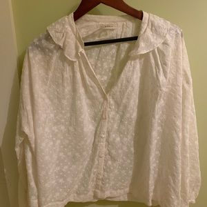 Doen Tops - Doen Jane blouse. White eyelet. Size medium.